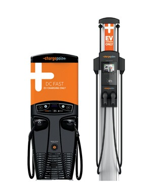 Chargepoint EV charging station.