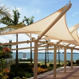 Steel shade structures