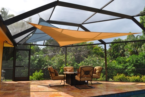 DIY shade sail over residential patio