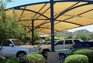 Shaded Parking Lot